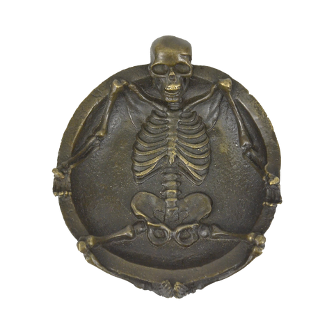 Skeleton bronze ash tray by Milo