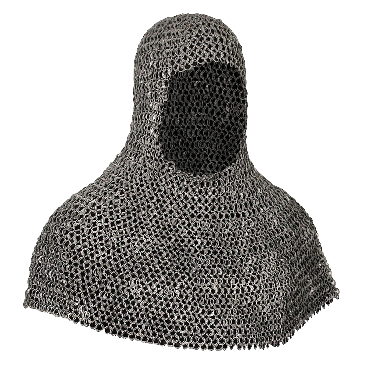 "Riveted Aluminum ""Battle Worn"" Mail Armor Coif"