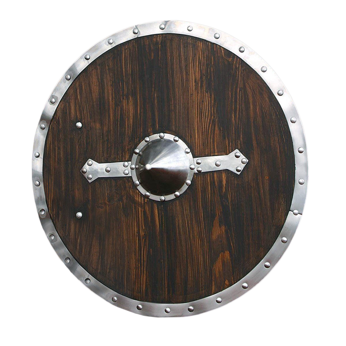 Round Brown Viking Shield