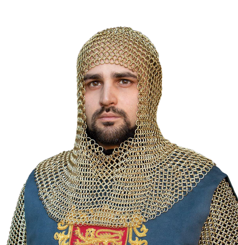 Plated Brass Mail Armor Coif