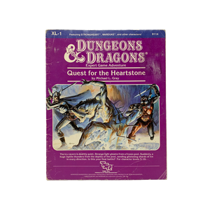 "Vintage 1984 ""Quest for the Heartstone"" D&D adventure book"