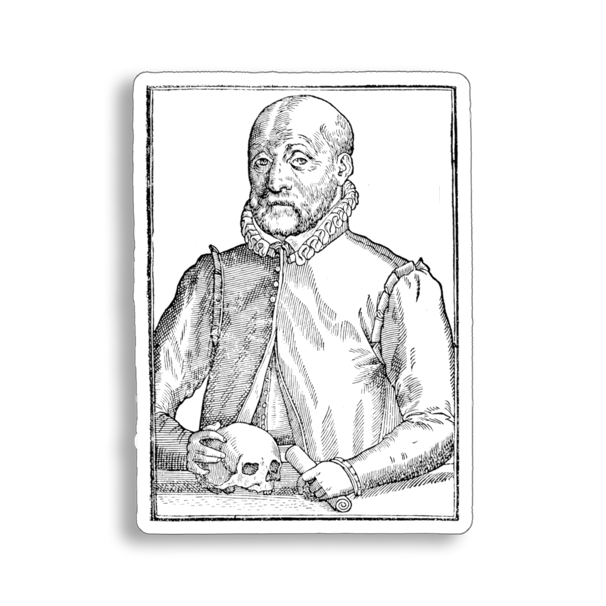 Ioannes Wierus a.k.a. Johann Weyer 16th century demonologist sticker