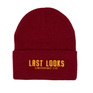 Last Looks Grooming Apparel Beanie Hat Maroon