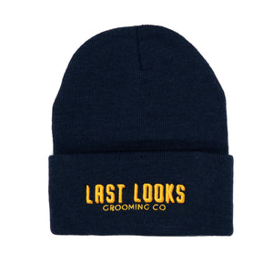 Last Looks Grooming Apparel Beanie Hat Navy Blue