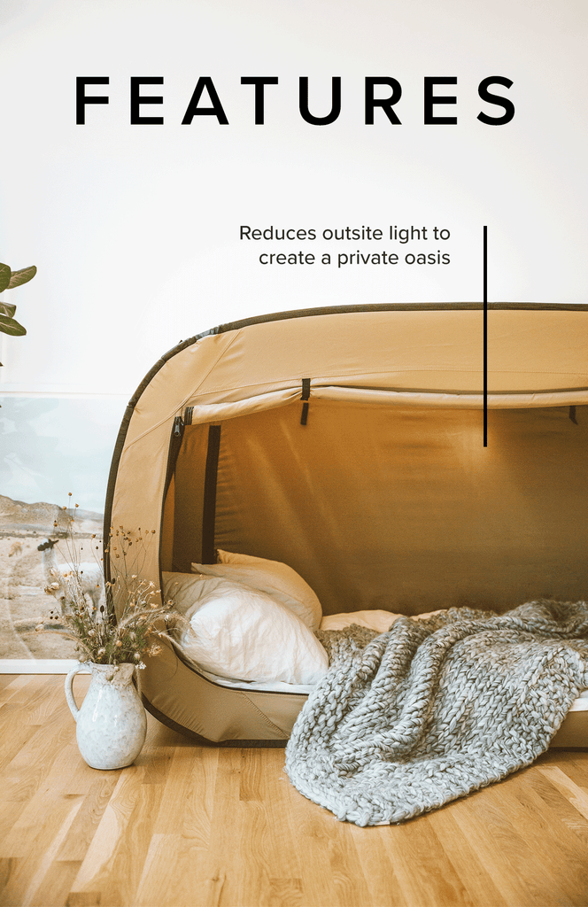 Privacy Pop Bed Tent Features Sleep