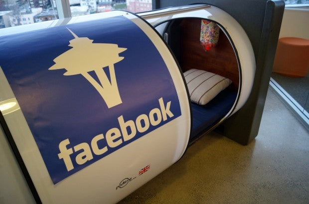 Facebook Nap Pods