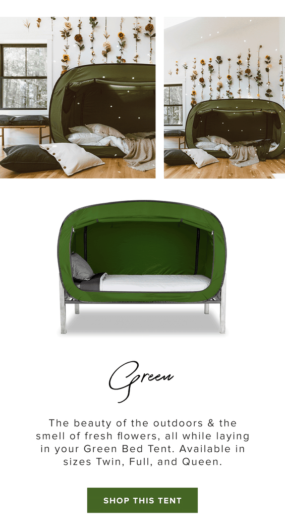 Inspired By Nature Green Privacy Pop Bed Tent