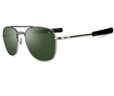American Optical® - Original Pilot Sunglasses, Silver & Green