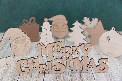 Christmas - wooden craft shapes