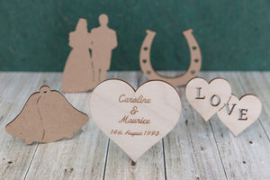 Valentine and Wedding wooden blanks