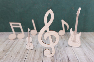 Music and instrument craft blank shapes
