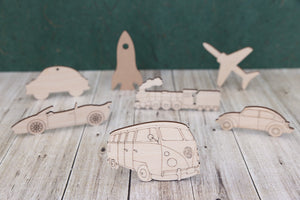 Vehicles and Transport - wooden cutouts for craft