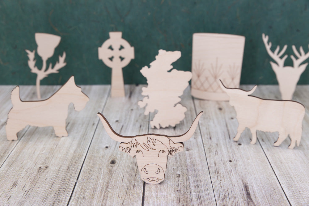 Wooden Scottish Shapes Mdf And Plywood Emmc Craft Shapes