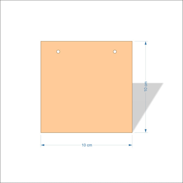 10 cm Wide 4mm thick Birch plywood Plaques with square corners