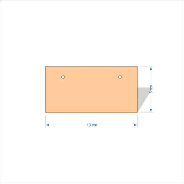 10 cm Wide 3mm thick MDF Plaques with square corners