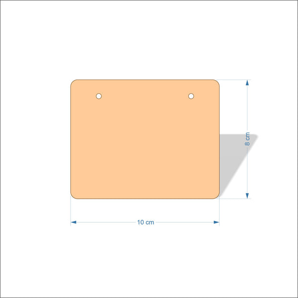 10 cm Wide 3mm thick MDF Plaques with rounded corners