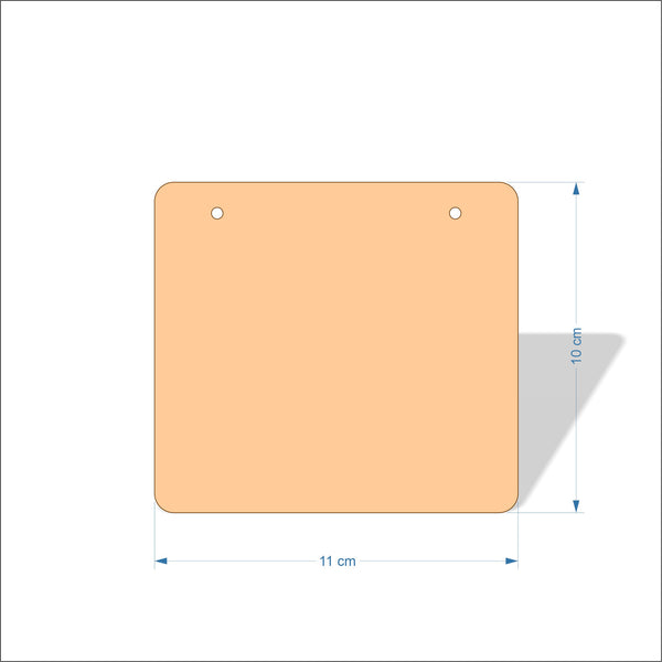 11 cm Wide 3mm thick MDF Plaques with rounded corners