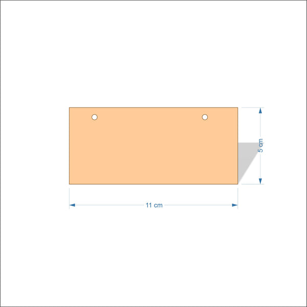 11 cm Wide 3mm thick MDF Plaques with square corners