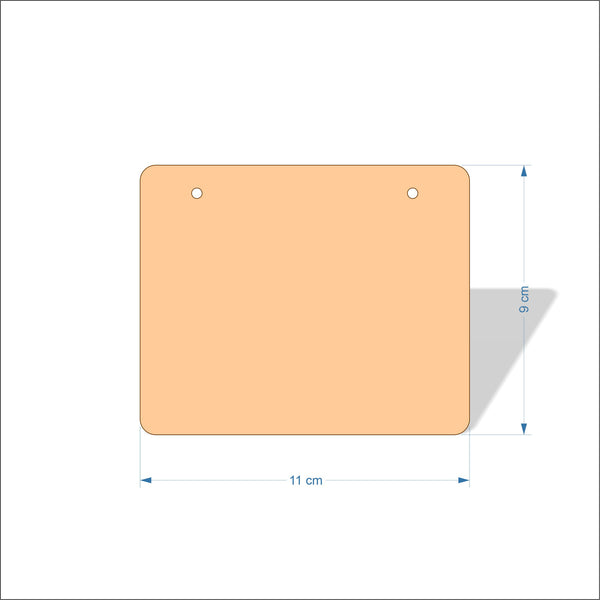 11 cm Wide 4mm thick Birch plywood Plaques with rounded corners