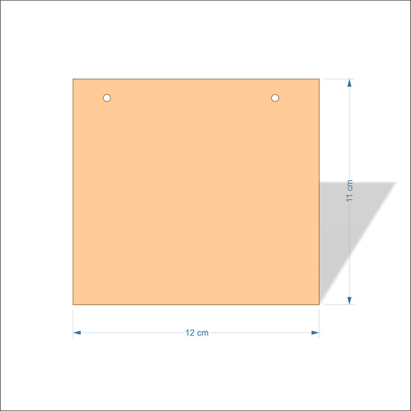 12 cm Wide 3mm thick MDF Plaques with square corners