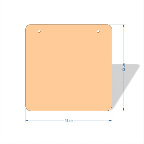 12 cm Wide 3mm thick MDF Plaques with rounded corners
