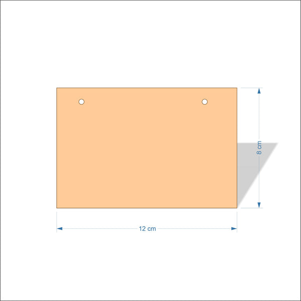 12 cm Wide 4mm thick Birch plywood Plaques with square corners