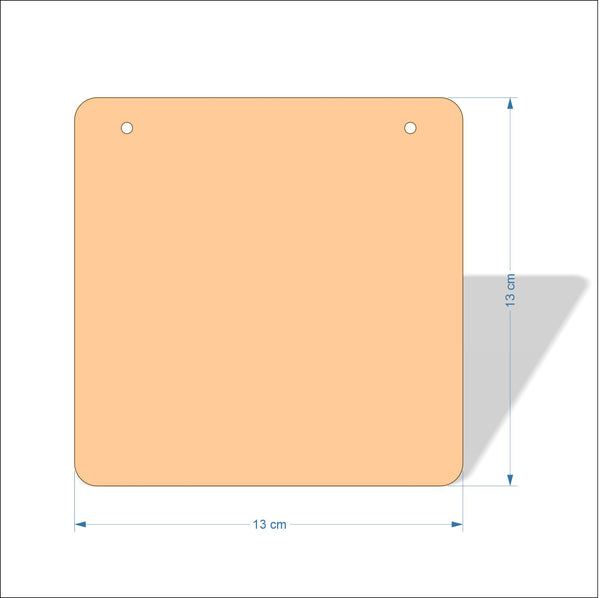 13 cm Wide 4mm thick Birch plywood Plaques with rounded corners