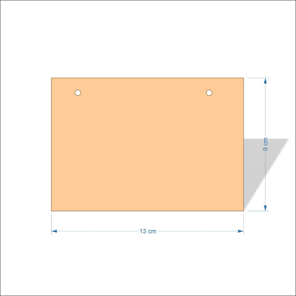 13 cm Wide 3mm thick MDF Plaques with square corners