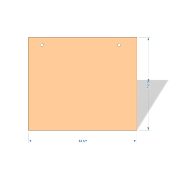 14 cm Wide 3mm thick MDF Plaques with square corners