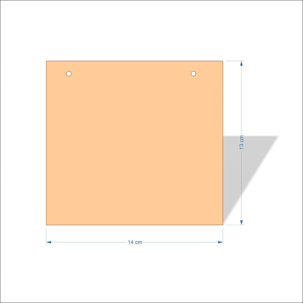 14 cm Wide 4mm thick Birch plywood Plaques with square corners