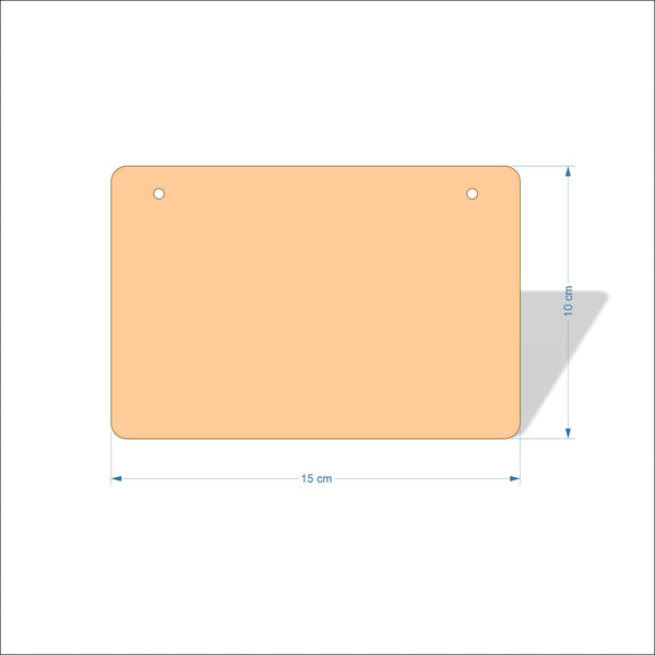15 cm Wide 4mm thick Birch plywood Plaques with rounded corners
