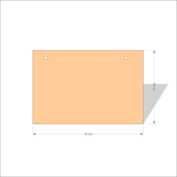 15 cm Wide 3mm thick MDF Plaques with square corners