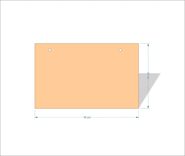 16 cm X 10 cm 4mm Birch plywood Plaques with square corners