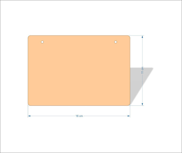 16 cm X 11 cm 3mm MDF Plaques with rounded corners