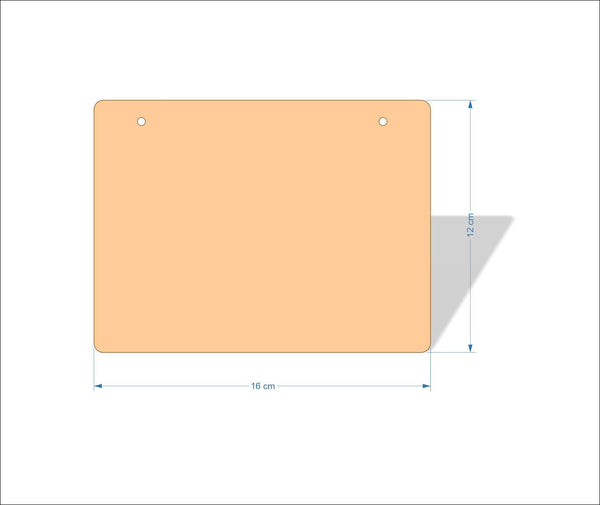 16 cm X 12 cm 4mm Birch plywood Plaques with rounded corners