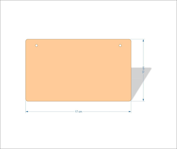 17 cm X 10 cm 3mm MDF Plaques with rounded corners