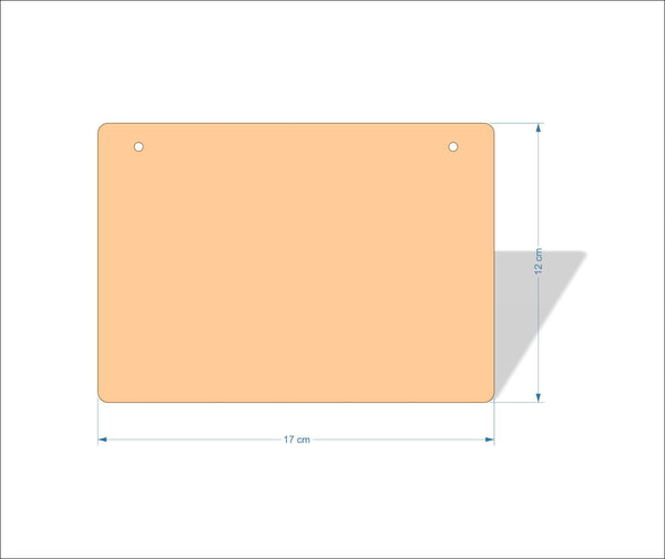 17 cm X 12 cm 3mm MDF Plaques with rounded corners