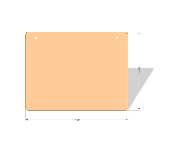 17 cm X 13 cm 3mm MDF Plaques with rounded corners