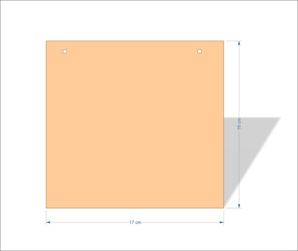17 cm X 16 cm 3mm MDF Plaques with square corners