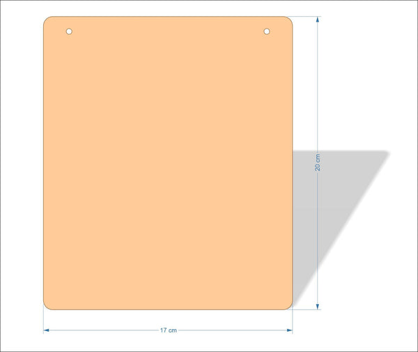 17 cm X 20 cm 3mm MDF Plaques with rounded corners