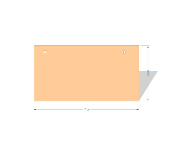 17 cm X 9 cm 3mm MDF Plaques with square corners