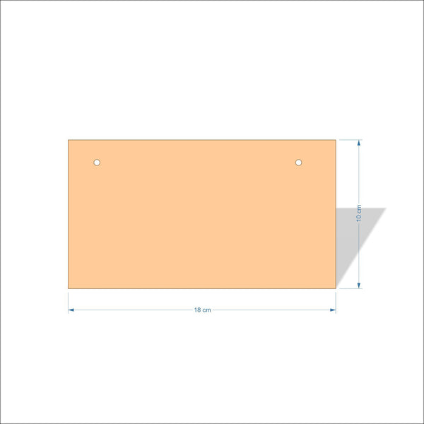 18 cm X 10 cm 3mm MDF Plaques with square corners