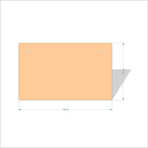 18 cm X 11 cm 3mm MDF Plaques with rounded corners