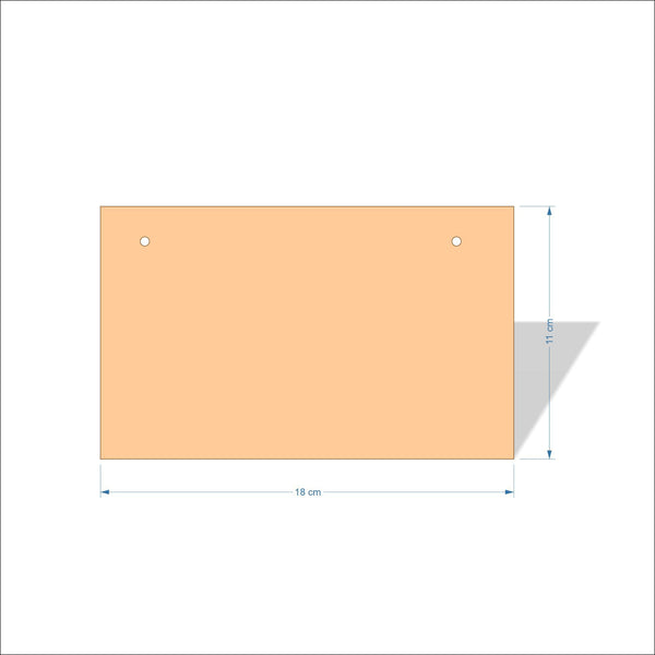 18 cm X 11 cm 3mm MDF Plaques with square corners