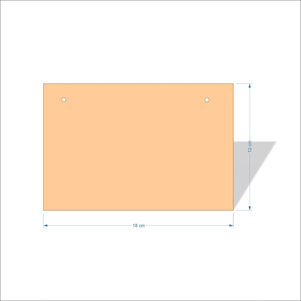 18 cm X 12 cm 3mm MDF Plaques with square corners