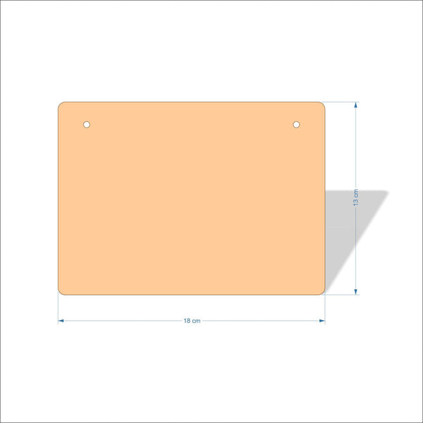 18 cm X 13 cm 4mm Birch plywood Plaques with rounded corners