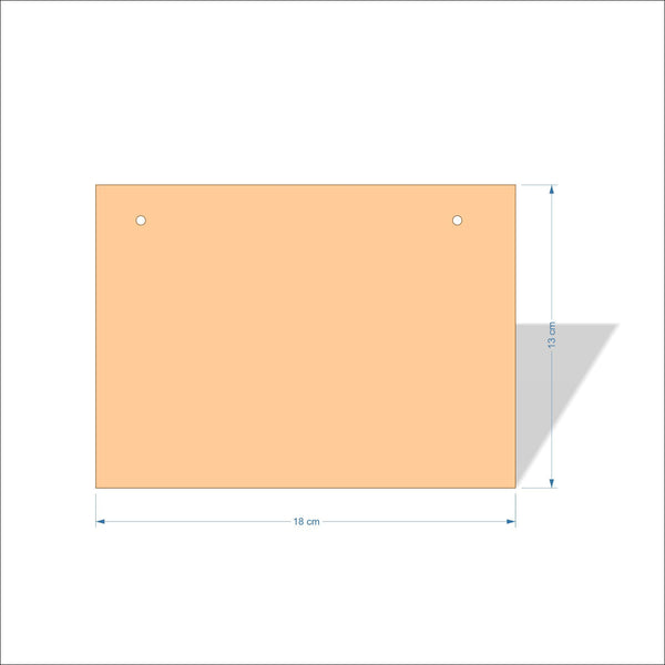 18 cm X 13 cm 3mm MDF Plaques with square corners