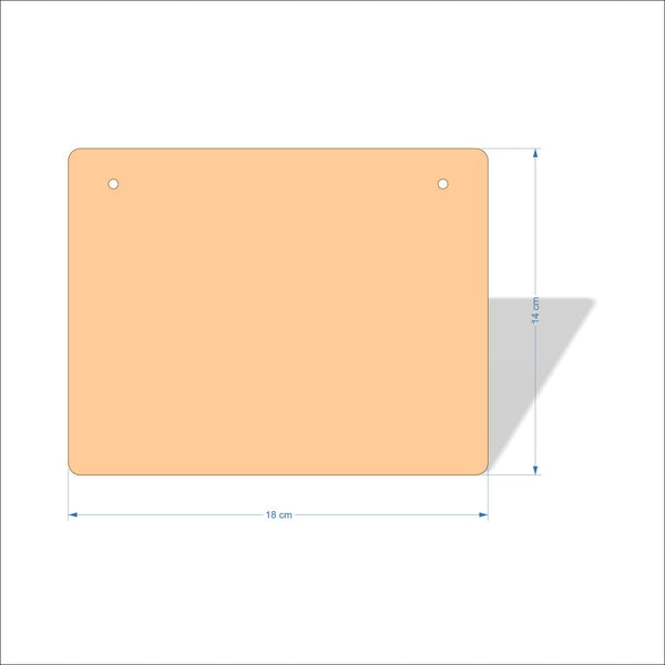 18 cm X 14 cm 3mm MDF Plaques with rounded corners