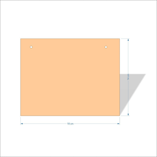 18 cm X 14 cm 3mm MDF Plaques with square corners