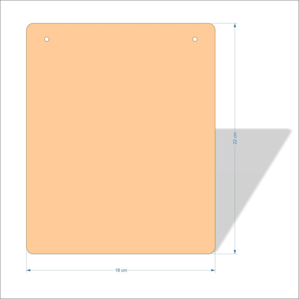 18 cm X 22 cm 3mm MDF Plaques with rounded corners